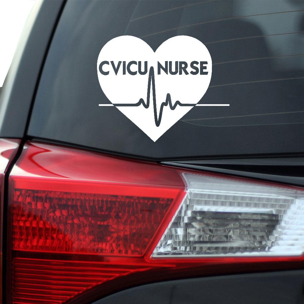 cvicu nurse heart decal southern caliber decals